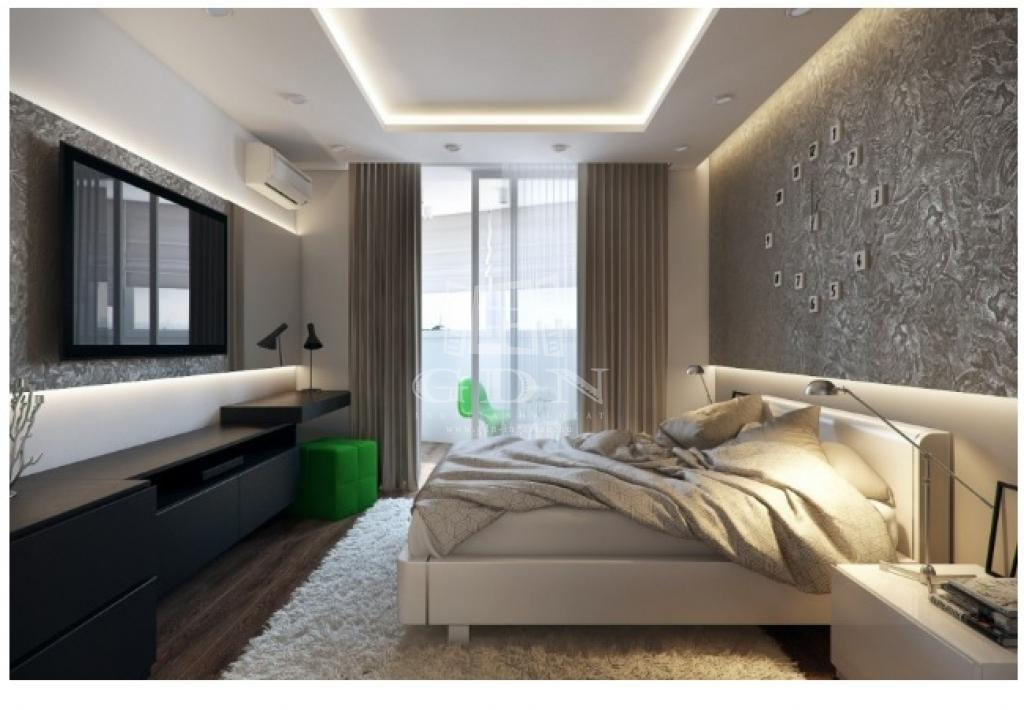 """Дизайн спальни 12 кв.м в современном стиле фото """" современны."""